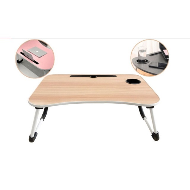 foldable table bed laptop portable with cup holder shopstop al