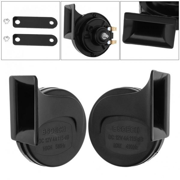 12V Black High Electric Bass Single Tone Snail Horn Suitable for Motorcycles Bicycles Automobiles buy online shopstop al