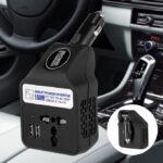 150w dc 12v to ac 220v car smart power inverter w dual usb online shopstop al