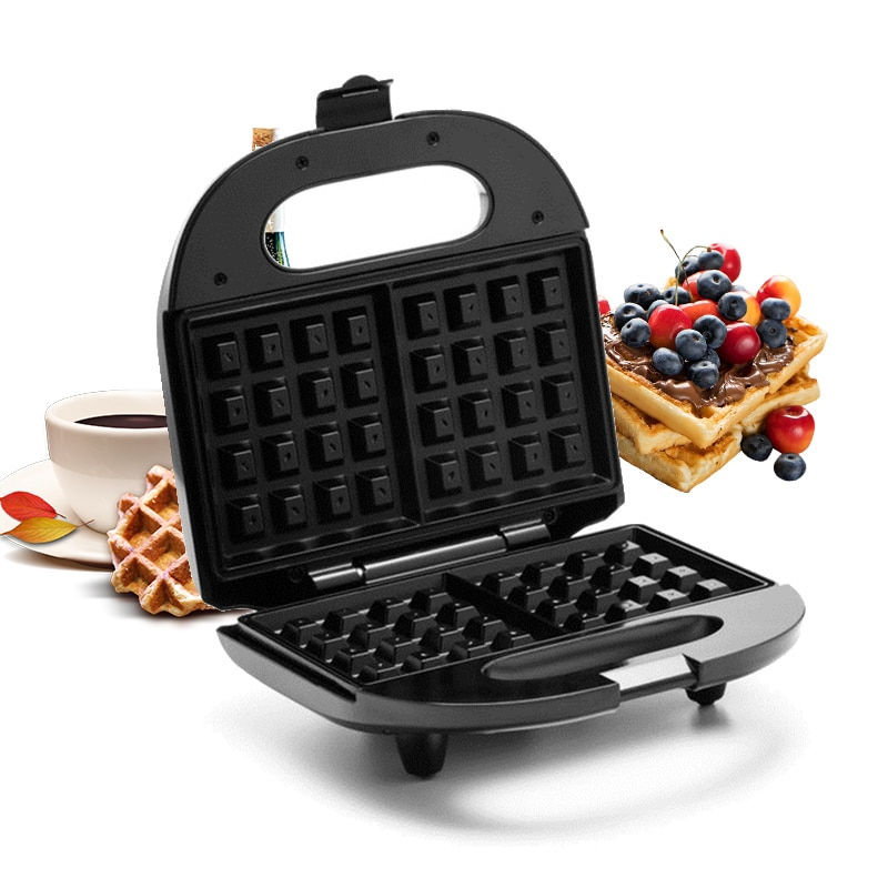 Electric Waffles Maker Electric Sandwich Iron Machine Bubble Egg Cake Oven Breakfast Shopstop al