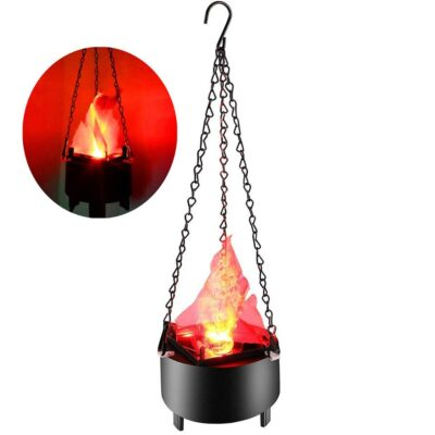 Electronic Hanging LED Fake Fire Flame Effect Light Halloween Artificial Top Shop al